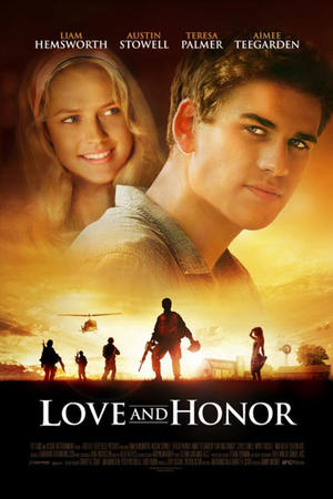 "Poster art for ""Love and Honor."""