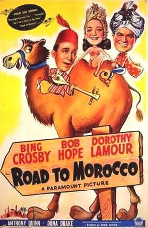 "Poster art for ""Road to Morocco."""