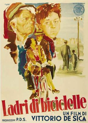 """Poster art for """"Bicycle Thieves."""""""