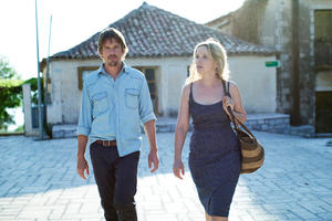 "Ethan Hawke as Jesse and Julie Delpy as Celine in ""Before Midnight."""