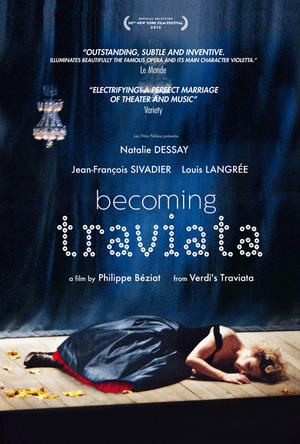 "Poster art for ""Becoming Traviata."""