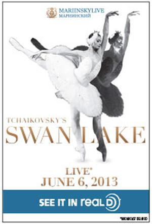 """Poster art for """"Swan Lake Mariinsky Live in 3D."""""""