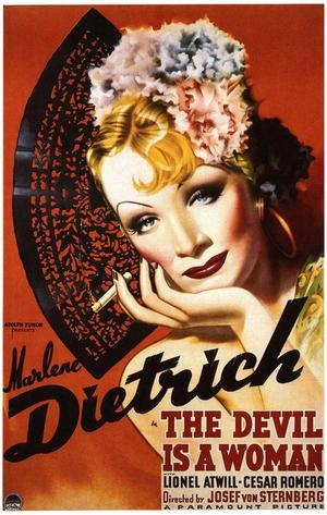 "Poster art for ""The Devil Is A Woman."""