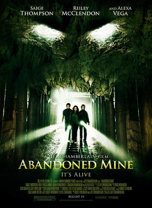"Poster art for ""Abandoned Mine."""