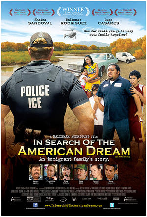 "Poster art for ""In Search of the American Dream."""