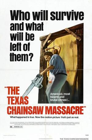 "Poster art for ""Texas Chainsaw Massacre."""