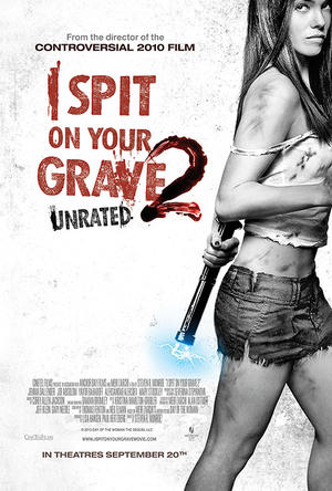 """Poster art for """"I Spit on Your Grave 2."""""""
