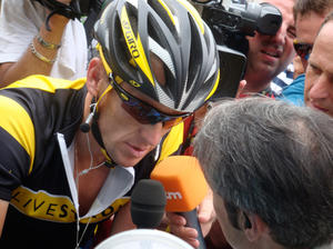 "Lance Armstrong in ""The Armstrong Lie."""