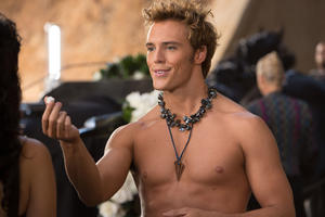 "Sam Claflin as Finnick Odair in ""The Hunger Games: Catching Fire."""