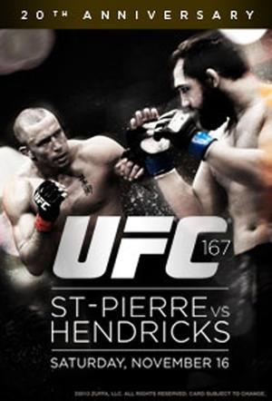 """Poster art for """"UFC 167: St-Pierre vs. Hendricks."""""""