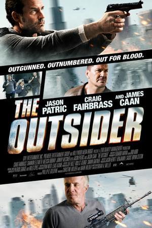 "Poster art for ""The Outsider."""