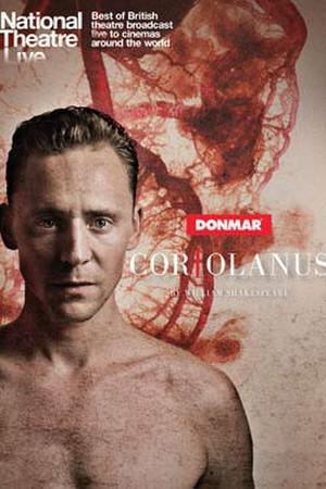 "Poster art for ""National Theater: Coriolanus."""