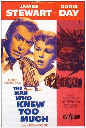"""Poster art for """"The Man Who Knew Too Much."""""""