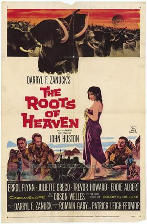 "Poster art for ""The Roots of Heaven."""