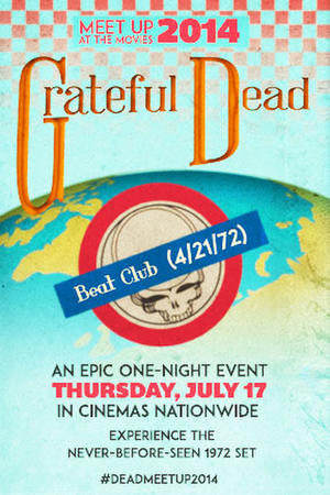 "Poster art for ""Grateful Dead Meet Up 2014."""
