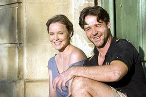 "Abbie Cornish and Russell Crowe in ""A Good Year."""