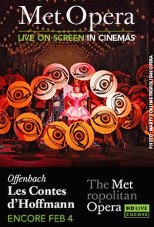 "Poster art for ""The Metropolitan Opera: Les Contes d'Hoffmann Encore."""