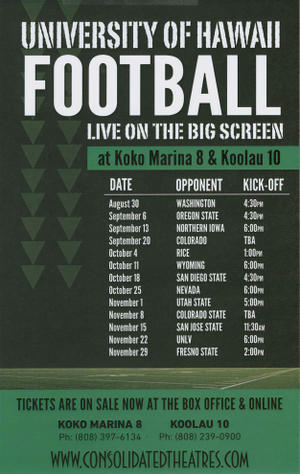 """Poster art for """"UH vs Colorado St."""""""