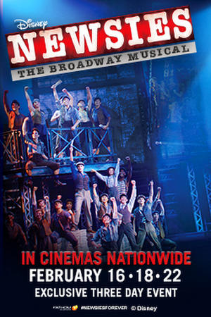"Poster art for ""Disney's Newsies: The Broadway Musical!."""