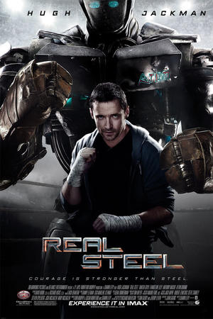 """Poster art for """"Real Steel: The IMAX Experience."""""""