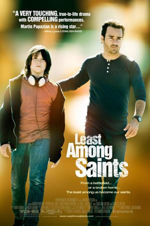 "Poster art for ""Least Among Saints."""