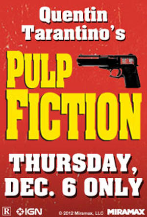 "Poster art for ""Tarantino XX: Pulp Fiction Event."""