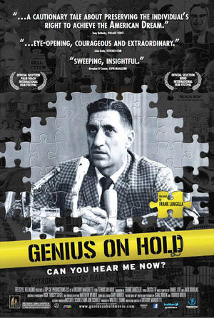 """Poster art for """"Genius on Hold."""""""