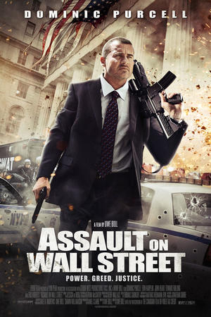 """Poster art for """"Assault on Wall Street."""""""