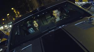 """Selena Gomez as Kid and Ethan Hawke as Brent in """"Getaway."""""""