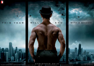 """Poster art for """"Dhoom 3."""""""