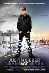 Justin Bieber Never Say Never: The Director's Fan Cut 3D showtimes and tickets