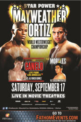 Mayweather vs. Ortiz Fight Live showtimes and tickets