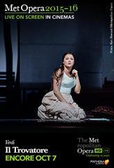 The Metropolitan Opera: Il Trovatore ENCORE showtimes and tickets