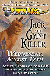 RiffTrax Live: Jack the Giant Killer showtimes and tickets