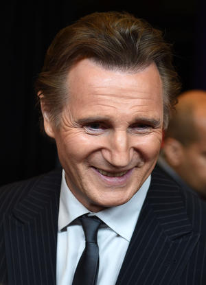 "Liam Neeson at the New York screening of ""Taken 3."""