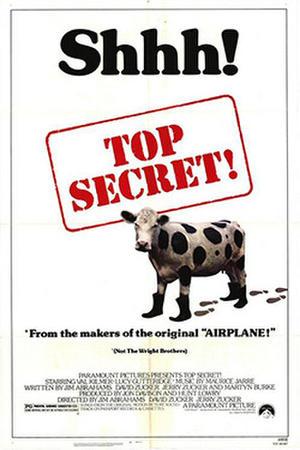 "Poster art for ""Top Secret!"""