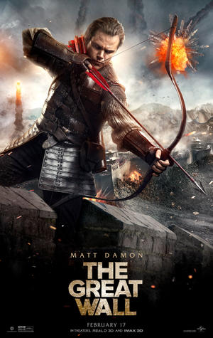 "Poster art for ""The Great Wall."""