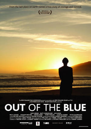 "Poster art for ""Out of the Blue."""