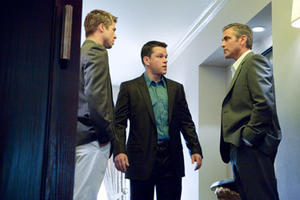 "Brad Pitt, Matt Damon and George Clooney in ""Ocean's Thirteen."""