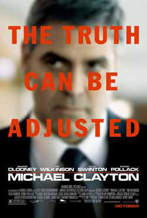 "Poster art for ""Michael Clayton."""