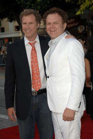 "Will Ferrell and John C. Reilly at the California premiere of ""Step Brothers."""