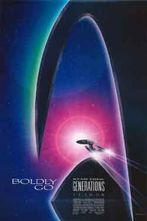 """Poster art for """"Star Trek Generations."""""""