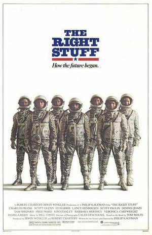 """Poster art for """"The Right Stuff."""""""