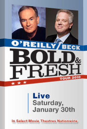 "Poster art for ""Bold and Fresh Tour: O'Reilly and Beck LIVE."""