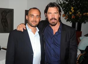 """Director Amir Bar-Lev and Josh Brolin at the after party of the New York premiere of """"The Tillman Story."""""""