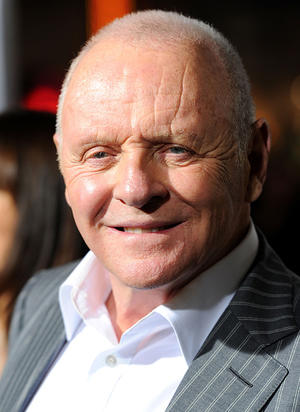 "Anthony Hopkins at the California premiere of ""The Rite."""