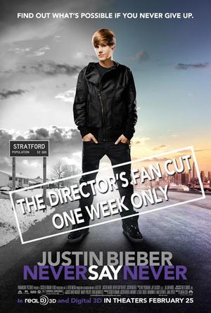 "Poster art for ""Justin Bieber: Never Say Never 3D."""