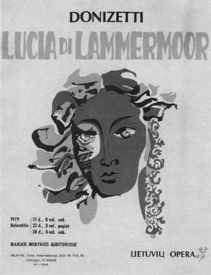 "Poster art for ""The Metropolitan Opera: Lucia di Lammermoor."""