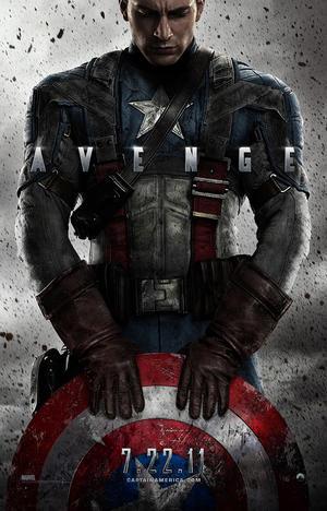 """Poster art for """"Captain America: The First Avenger."""""""