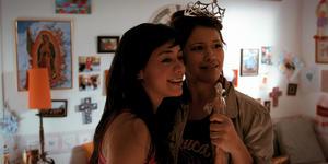 "Aimee Garcia as Carmen Salgado and Gina Rodriguez as Gina Esperanza in ""Go for It!"""